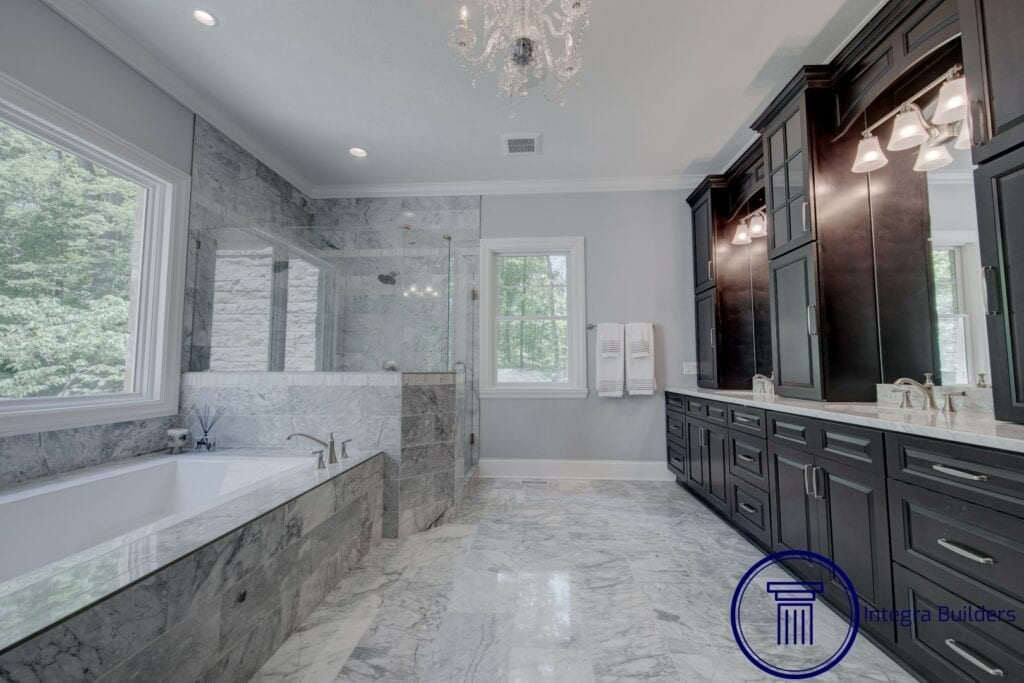 Zionsville master bathroom