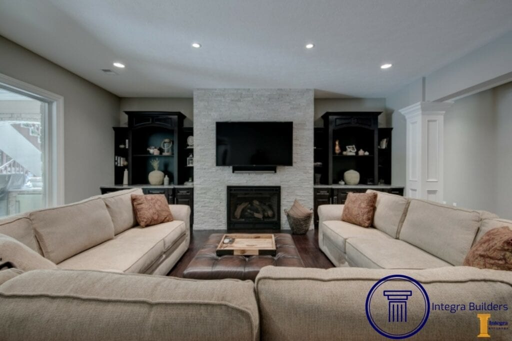 Zionsville basement living room